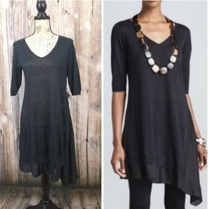 Eileen Fischer Linen & Silk Tunic Dress Med
